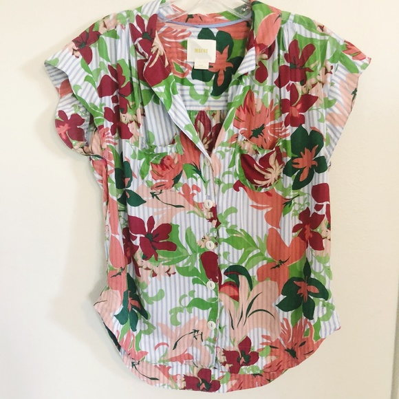 Anthropologie Tops - SOLD Anthropologie Maeve | Floral Raffine Blouse